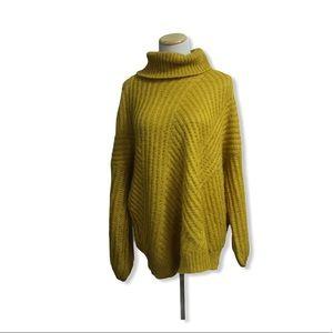 Dreamers Mustard Yellow Turtleneck sweater